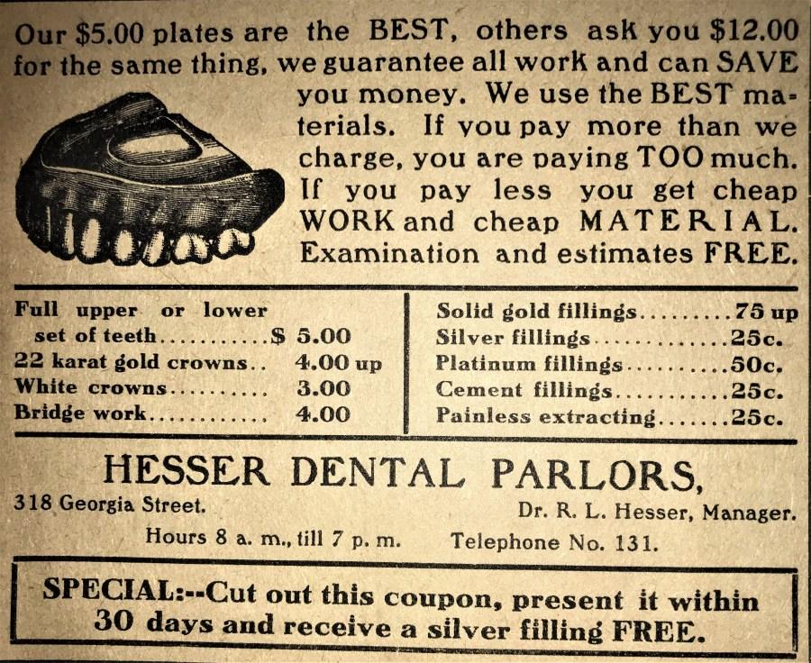 Hesser Dental Parlors