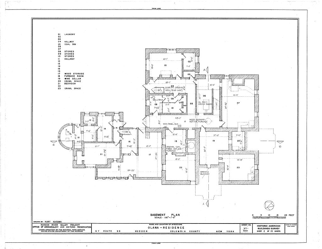 Floor Plans Of The Mansion Olana