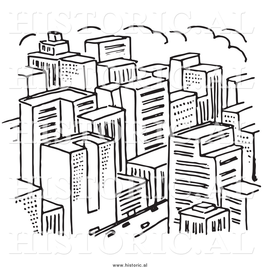 Clipart Of A Big City With Lots Of Skysc Rs