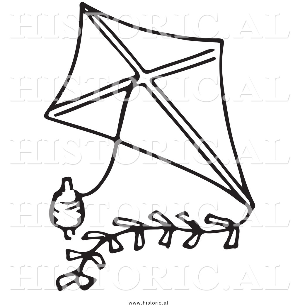 Clipart Of A Classic Kite With String