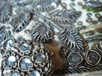 Button Detail, Court waistcoat, 1770-80, Snowshill