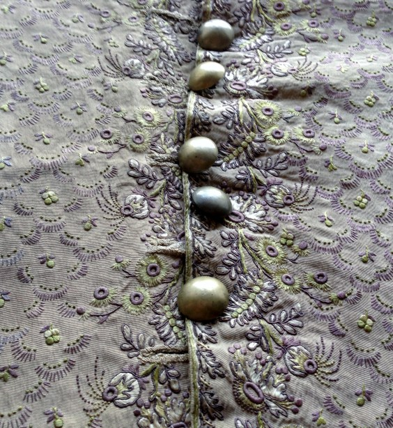 Later button addition, 1780-90 Waistcoat