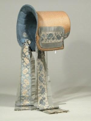 Quarter view, poke bonnet, 1815 - 20, Charles Paget Wade Hats & Bonnets Exhibition at Berrington Hall 2014