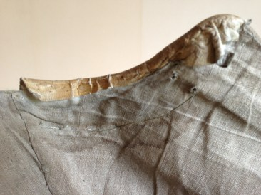 Kid leather trim, 1770's Stays, Snowshill Costume Collection at Berrington Hall