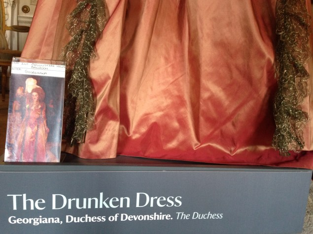 'The Drunken Dress', The Duchess exhibition at Berrington Hall, April 1st - June 31st 2014