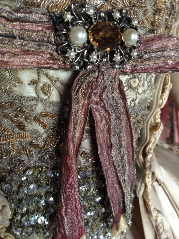 Stomacher detail, 'The Wedding dress', The Duchess exhibition at Berrington Hall, April 1st - June 31st 2014
