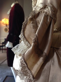 Sleeve detail, 'The Wedding dress', The Duchess exhibition at Berrington Hall, April 1st - June 31st 2014