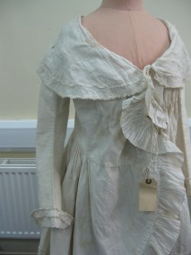Caraco-1785, Hereford Museum. Professor Nancy Hills 'Symphony In White' exhibition at Berrington Hall throughout 2014.