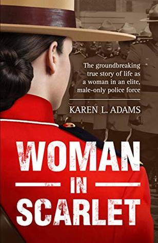 """cover image of the book """"Woman In Scarlet"""" by Karen L. Adams"""