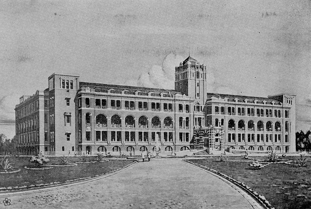 總督府原設計者長野宇平治得獎圖,但此圖後來被認為不夠優秀,被進一步修改。