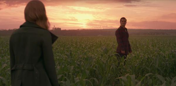 Amy Adams and Henry Cavill