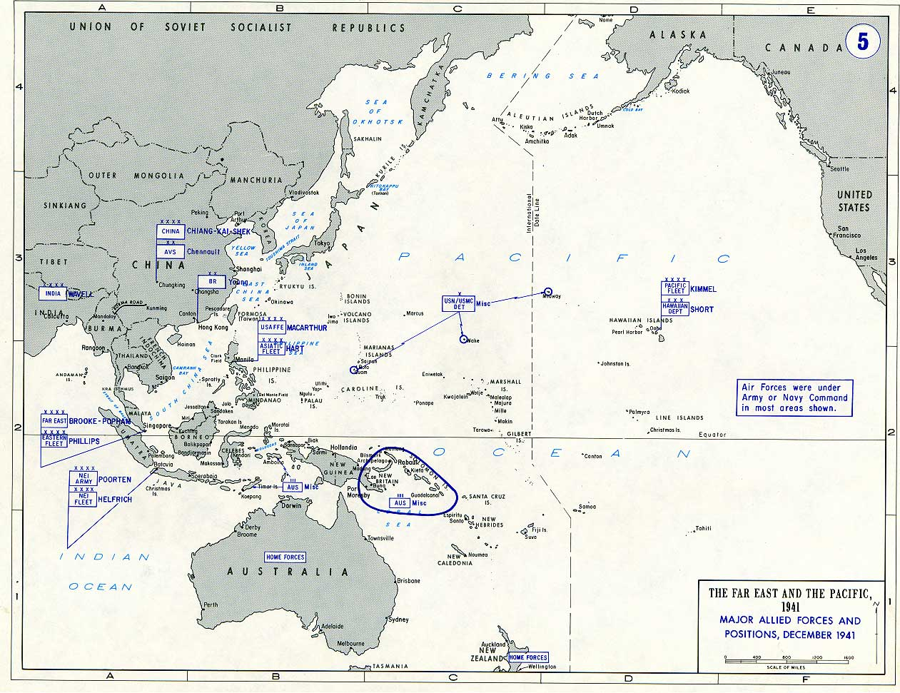 General Maps About The Far East And The Pacific During The