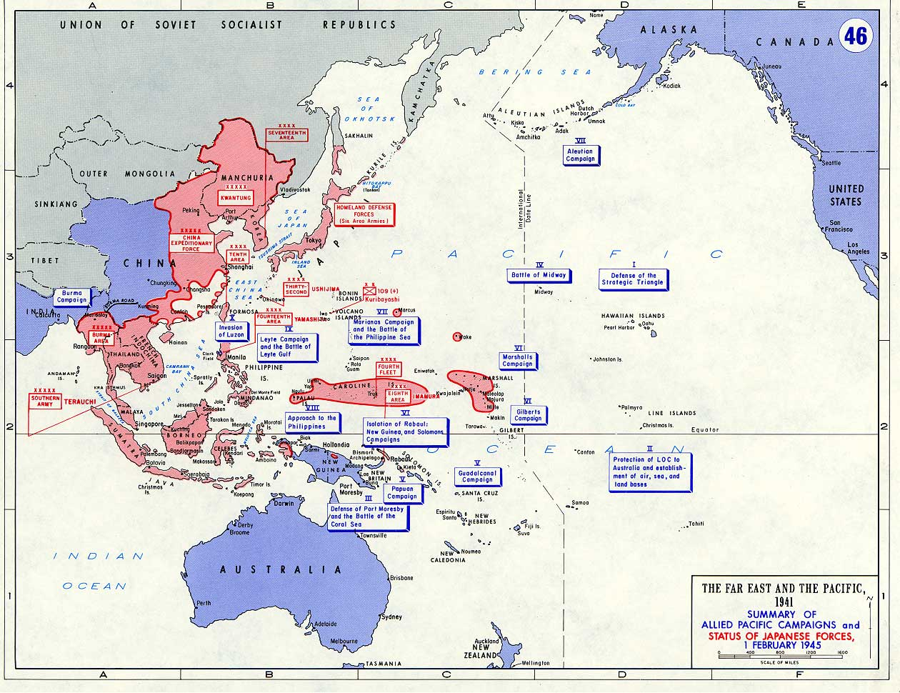 Asia Pacific Theater Maps
