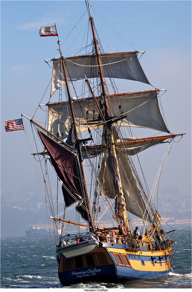 Hawaiian Chieftain Under Sail, Photo by Grays Harbor Historical Seaport