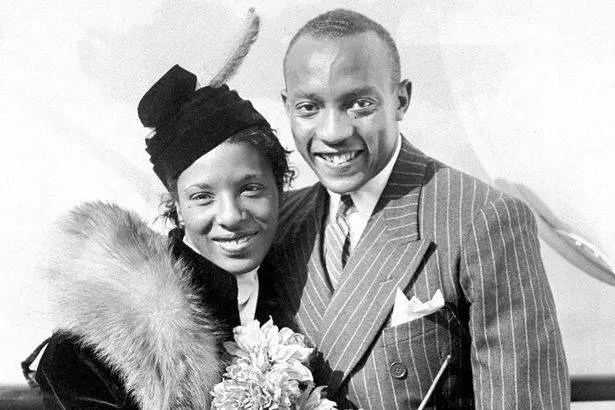 Jesse Owens and his wife, Minnie Ruth Solomon