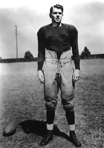 Ronald Reagan in his college football uniform