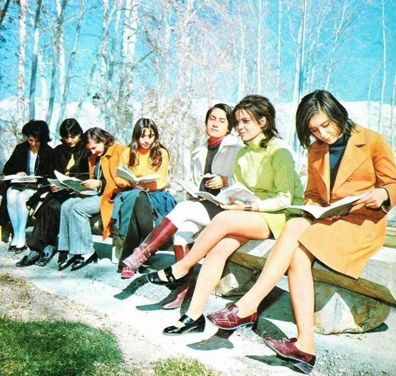 A snapshot of fashion history, Iran, 1979.