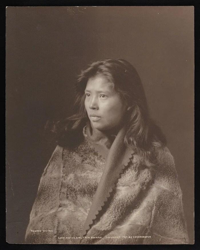 Portrait of Tootch-Wu-Wu. Hoonah, Alaska, 1907.