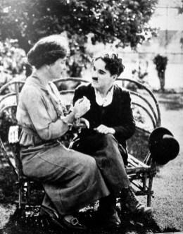 Helen Keller captivates Charlie Chaplin