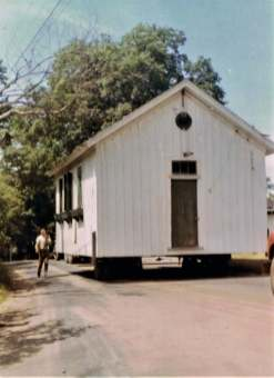 1969. The Adams School is moved to what we hope will be its final home on Westprt Road.