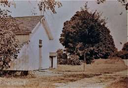 The Adams School at its original location on Adams Road just east of Sport Hill. Early 20th century photo.