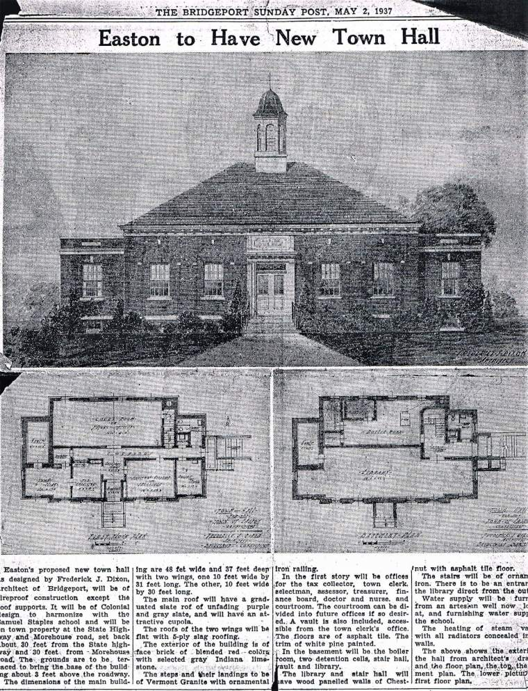 Easton HSE M Town Hall 1937