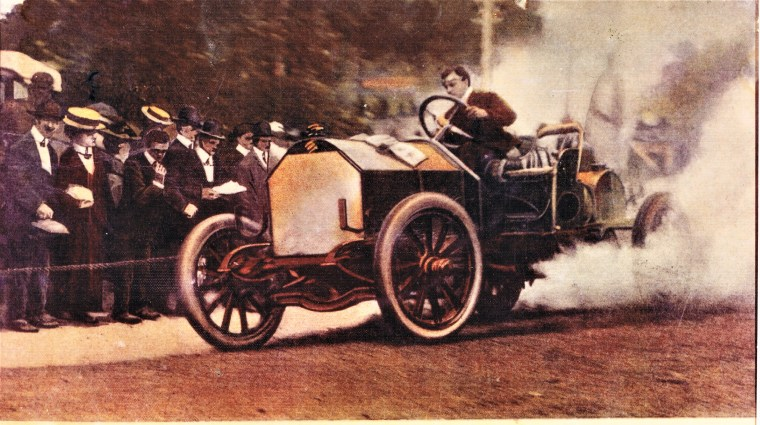 Easton HSE M118 Al Poole in Isotta during1908 Race winning car