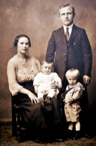 Julia & George Halzack with sons Nicholas and Peter c. 1923