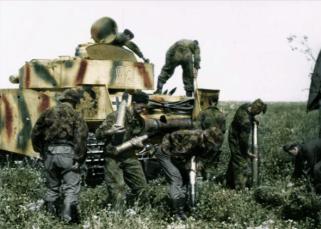 SS Prepping a Panzer IV.