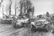 Eastern Front 1943. Parts of 1 SS-Panzer Division Leibstandarte Adolf Hitler.
