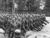 Troops parade Warsaw, Poland.