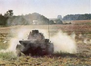 German tank in combat against french anti-tank-gun position,1940.