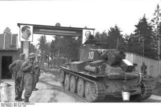 Entering the Soviet Union June 1941.