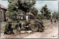 7.5 cm leichtes Infanteriegeschütz 18 of the Waffen SS.