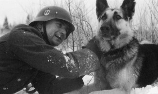 Waffen SS Soldat and a companion.