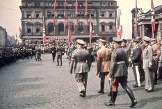 Benito Mussolini and Adolf Hitler in Munich around the time of the September 1938 Munich Conference.