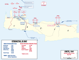 Map of the German assault on Crete.