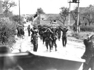German soldiers surrendering in St. Lambert on 19 August 1944.