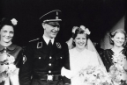 A proud new husband wears his SS uniform on his wedding day in December 1942.