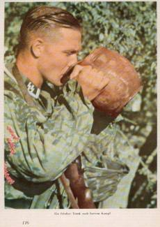 SS soldier drink.