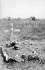 The grave of Heinz Kühl, a German soldier killed at Kursk.