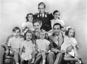 The Goebbels family. In this vintage manipulated image, Goebbels' stepson Harald Quandt (who was absent due to military duty) was added to the group portrait.