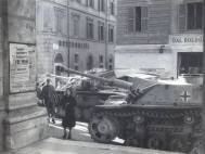 StuG Assault guns in Rome in 1944.