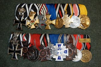 Two medal bars done for a Soldat customer. Made by http://soldat.com/ or Soldat FHQ on Facebook.