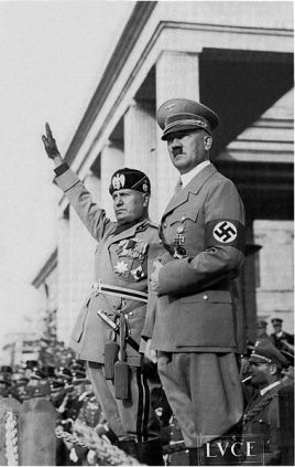 Mussolini and Hitler.