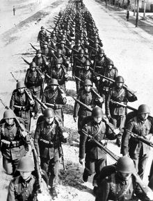 Polish Infantry fighting during the invasion by Germany.