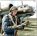 A Croatian Oberfeldwebel pilot of the 10.(Kroat) KG3 bomber-group standing by his Dornier Do-17Z on the Eastern Front. c. October 1941.