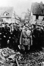 Adolf Hitler tours Destruction of Oeschelbronn, Germany