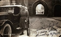 Adolf Hitler on his release from Landsberg Prison.