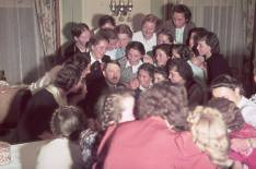 Adolf Hitler surrounded by adoring Austrian women and girls, 1939. Photograph by Hugo Jaeger.
